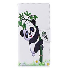 Недорогие Чехлы и кейсы для Sony-Кейс для Назначение Sony Xperia L2 Xperia XA2 Ultra Бумажник для карт Кошелек со стендом Флип С узором Чехол Панда Твердый Кожа PU для