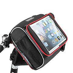 billige Cykeltasker-ROSWHEEL Skuldertaske Taske til cykelstyret Mobiltelefonetui 5.7 Tommer Fugtsikker Vandtæt Lynlås Påførelig Touch Screen Stødsikker