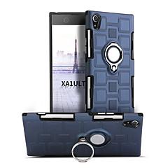 Недорогие Чехлы и кейсы для Sony-Кейс для Назначение Sony Xperia XA1 Ultra Защита от удара Кольца-держатели Поворот на 360° Кейс на заднюю панель Сплошной цвет Твердый ПК