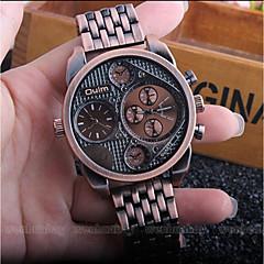 preiswerte Herrenuhren-Oulm Herrn Armbanduhren für den Alltag Modeuhr Japanisch Quartz Wasserdicht Armbanduhren für den Alltag Legierung Leder Band Analog Luxus Modisch Schwarz / Gold - Schwarz Bronze Dunkelrot