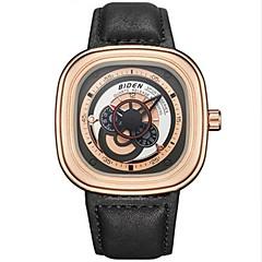 お買い得  メンズ腕時計-男性用 リストウォッチ 日本産 クォーツ 30 m 耐水 クロノグラフ付き クリエイティブ 本革 バンド ハンズ ファッション ブラック / ピンク / ベージュ - Brown ゴールデンブラウン ゴールドとブラック 2年 電池寿命 / ステンレス