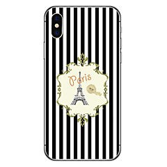 voordelige iPhone 6 hoesjes-hoesje Voor Apple iPhone X iPhone 8 Plus Patroon Achterkant Eiffeltoren Zacht TPU voor iPhone X iPhone 8 Plus iPhone 8 iPhone 7 Plus