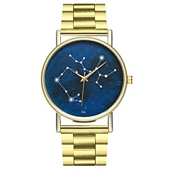 preiswerte Damenuhren-Damen Armbanduhren für den Alltag Mond Phase Cool Edelstahl Band Analog Minimalistisch Gold - Gold Ein Jahr Batterielebensdauer / SSUO LR626