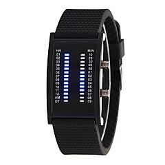 preiswerte Damenuhren-Herrn / Damen Modeuhr Chinesisch Armbanduhren für den Alltag Silikon Band Modisch Schwarz