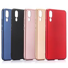 お買い得  Huawei Pシリーズケース/ カバー-ケース 用途 Huawei P20 Pro P20 つや消し バックカバー ソリッド ハード PC のために Huawei P20 lite Huawei P20 Pro Huawei P20