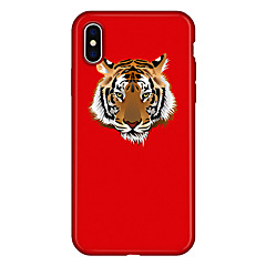 Недорогие Кейсы для iPhone 5-Кейс для Назначение Apple iPhone X iPhone 8 Plus С узором Кейс на заднюю панель Мультипликация Животное Мягкий ТПУ для iPhone X iPhone 8