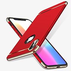 Недорогие Кейсы для iPhone 6 Plus-Кейс для Назначение Apple iPhone X iPhone 8 Защита от удара Покрытие Кейс на заднюю панель Однотонный Твердый ПК для iPhone X iPhone 8