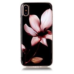 Недорогие Кейсы для iPhone X-Кейс для Назначение Apple iPhone X iPhone 8 Ультратонкий Кейс на заднюю панель Цветы Мягкий ТПУ для iPhone X iPhone 8 Pluss iPhone 8