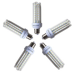 preiswerte LED-Birnen-5 Stück 15W 1200lm E26 / E27 LED Mais-Birnen T 72 LED-Perlen SMD 2835 Warmes Weiß 220-240V