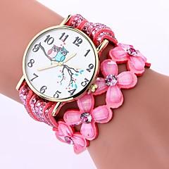 preiswerte Damenuhren-Damen Quartz Armband-Uhr Chinesisch Armbanduhren für den Alltag PU Band Freizeit Modisch Schwarz Weiß Blau Braun Rosa Lila Fuchsia
