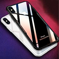 Недорогие Кейсы для iPhone-Кейс для Назначение Apple iPhone X iPhone 8 Защита от удара Зеркальная поверхность Кейс на заднюю панель Однотонный Твердый Силикон для