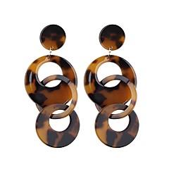 preiswerte Ohrringe-Tropfen-Ohrringe - Tropfen, Donuts Europäisch, Modisch, überdimensional Weiß / Kaffee / Regenbogen Für Strasse / Klub