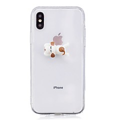 Недорогие Кейсы для iPhone 6-Кейс для Назначение Apple iPhone X iPhone 8 Ультратонкий Кейс на заднюю панель С собакой Твердый Акрил для iPhone X iPhone 8 Pluss iPhone