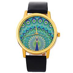 preiswerte Damenuhren-Damen Quartz Modeuhr Chinesisch Armbanduhren für den Alltag PU Band Mehrfarbig Modisch Schwarz Weiß Blau Braun Rose