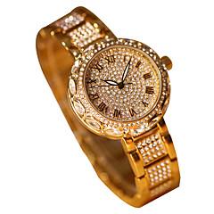 preiswerte Damenuhren-Damen Armbanduhr Japanisch Chronograph leuchtend Imitation Diamant Legierung Band Analog Luxus Glanz Silber / Gold - Gold Silber Zwei jahr Batterielebensdauer