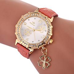 preiswerte Damenuhren-Damen Quartz Modeuhr Chinesisch Armbanduhren für den Alltag PU Band Charme Modisch Schwarz Weiß Blau Gold Lila Rose