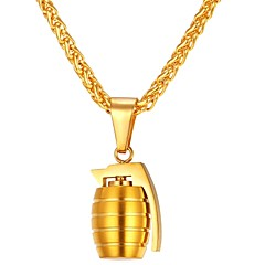 preiswerte Anhänger-Charme - Edelstahl Modisch Anhänger Gold / Silber Für Alltag