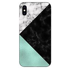 Недорогие Кейсы для iPhone 7 Plus-Кейс для Назначение Apple iPhone X iPhone 8 Прозрачный С узором Кейс на заднюю панель Мрамор Мягкий ТПУ для iPhone X iPhone 8 Pluss
