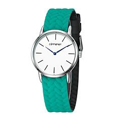 preiswerte Damenuhren-Damen Modeuhr Quartz Armbanduhren für den Alltag Nylon Band Analog Mehrfarbig Minimalistisch Schwarz / Weiß / Rot - Purpur Rot Grün