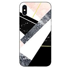 Недорогие Кейсы для iPhone 6-Кейс для Назначение Apple iPhone X iPhone 8 Прозрачный С узором Кейс на заднюю панель Мрамор Мягкий ТПУ для iPhone X iPhone 8 Pluss