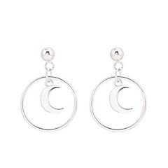 abordables Alta Joyería-Mujer Pendientes colgantes - S925 Sterling Silver MOON Simple, Dulce, Moda Plata Para Regalo / Diario