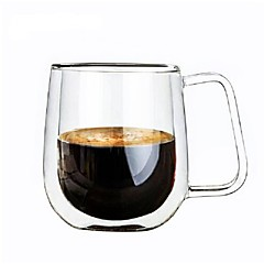 abordables Tazas-Vasos Vaso de boro alto Tazas de Café Regalo novia Don novio 1pcs