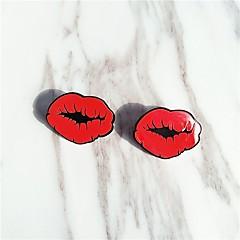 preiswerte Ohrringe-Ohrstecker - Lippen Süß Rot Für Alltag