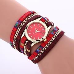 preiswerte Damenuhren-Damen Quartz Armbanduhr Chinesisch Armbanduhren für den Alltag Silikon Band Freizeit Modisch Schwarz Blau Rot Grau Gold Lila