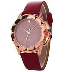 お買い得  レディース腕時計-女性用 クォーツ ファッションウォッチ 中国 カジュアルウォッチ PU バンド 多色 ファッション ブラック 白 レッド ブラウン グレー