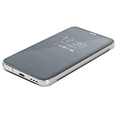 Недорогие Чехлы и кейсы для LG-Кейс для Назначение LG G6 Зеркальная поверхность / Флип / Ультратонкий Чехол Однотонный Твердый Кожа PU для LG G6