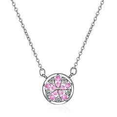 preiswerte Halsketten-Damen Kubikzirkonia Anhängerketten  -  Zirkon Blume Regenbogen 45 cm Modische Halsketten Für Strasse, Festival