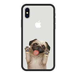 Недорогие Кейсы для iPhone 6 Plus-Кейс для Назначение Apple iPhone X iPhone 8 Plus С узором Кейс на заднюю панель С собакой Мультипликация Животное Твердый Акрил для