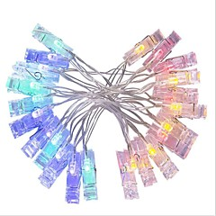 preiswerte LED Lichtstreifen-3M Leuchtgirlanden 20 LEDs LED Diode Warmes Weiß / Mehrfarbig Dekorativ AA-Batterien angetrieben 1pc
