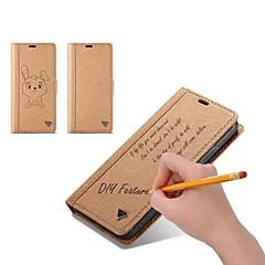 Недорогие Кейсы для iPhone 6-Кейс для Назначение Apple iPhone X iPhone 8 Бумажник для карт Кошелек Флип Своими руками Чехол Однотонный Твердый Кожа PU для iPhone X