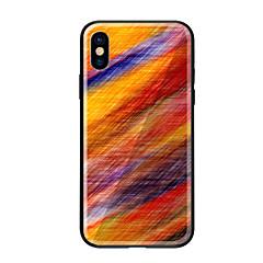 Недорогие Кейсы для iPhone 5-Кейс для Назначение Apple iPhone X iPhone 8 С узором Кейс на заднюю панель Градиент цвета Твердый Закаленное стекло для iPhone X iPhone 8
