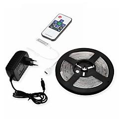 お買い得  LED ストリングライト-SENCART 5m ライトセット 300 LED 温白色 / クールホワイト / RGB カット可能 / 防水 / 接続可 120-240 V 1セット / IP65 / 車に最適 / ノンテープ・タイプ