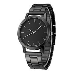 저렴한 -남성용 손목 시계 중국어 크로노그래프 스테인레스 스틸 밴드 패션 블랙