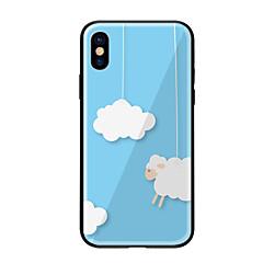 Недорогие Кейсы для iPhone 7-Кейс для Назначение Apple iPhone X iPhone 8 С узором Кейс на заднюю панель Пейзаж Твердый Закаленное стекло для iPhone X iPhone 8 Pluss