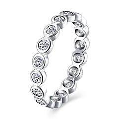 preiswerte Ringe-Damen Kubikzirkonia Bandring - S925 Sterling Silber damas, Modisch Schmuck Silber Für Party Alltag 6 / 7 / 8