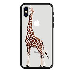 Недорогие Кейсы для iPhone 6-Кейс для Назначение Apple iPhone X iPhone 8 Plus С узором Кейс на заднюю панель Мультипликация Животное Твердый Акрил для iPhone X iPhone