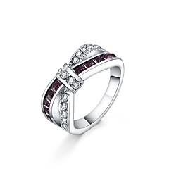 preiswerte Ringe-Kristall Statement-Ring - versilbert Erklärung, Modisch 6 / 7 / 8 / 9 / 10 Purpur Für Alltag