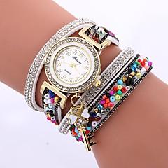 preiswerte Damenuhren-Damen Quartz Armband-Uhr Chinesisch Armbanduhren für den Alltag PU Band Freizeit Minimalistisch Schwarz Weiß Blau Rot Braun Grün