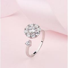 preiswerte Ringe-Kubikzirkonia Bandring / Stulpring - Kupfer Schneeflocke Klassisch, Süß, Modisch Verstellbar Silber Für Alltag