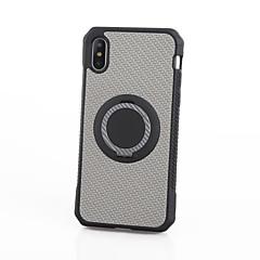 Недорогие Кейсы для iPhone 6-Кейс для Назначение Apple iPhone X iPhone 8 Защита от удара Кольца-держатели Кейс на заднюю панель Камуфляж Мягкий ТПУ для iPhone X