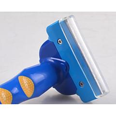 お買い得  犬用品&グルーミング用品-犬用 猫用 クリーニング コーム 防水 携帯用 ケース付き ブルー