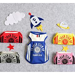 お買い得  犬用ウェア&アクセサリー-犬用 猫用 Tシャツ 犬用ウェア ブリティッシュ メッセージ イエロー レッド ブルー テリレン コスチューム ペット用 男性 スポーツ&アウトドア レジャー