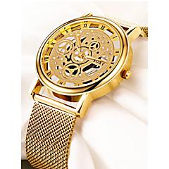 お買い得  メンズ腕時計-男性用 リストウォッチ 中国 クロノグラフ付き / 透かし加工 / 大きめ文字盤 合金 バンド ぜいたく / ミニマリスト シルバー / ゴールド