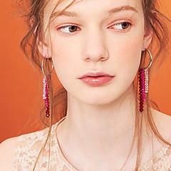 preiswerte Ohrringe-Damen Kristall Quaste Kreolen - vergoldet Quaste Koreanisch Modisch Schmuck Weiß / Rot Für Party / Abend Geschenk