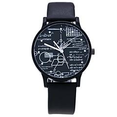 preiswerte Damenuhren-Herrn Damen Quartz Einzigartige kreative Uhr Kleideruhr Modeuhr Chinesisch Imitation Diamant Armbanduhren für den Alltag PU Band Freizeit