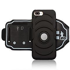 Недорогие Универсальные чехлы и сумочки-Кейс для Назначение Apple iPhone 8 Plus / iPhone 7 Plus Спортивные повязки / Бумажник для карт / Защита от удара С ремешком на руку Однотонный Мягкий ПК для iPhone 8 Pluss / iPhone 7 Plus